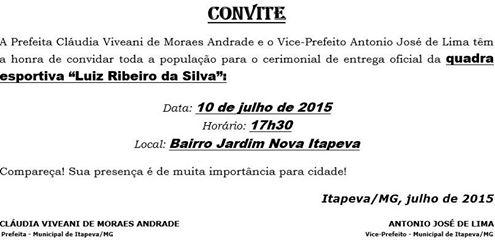 INAUGURAO QUADRA - 10.07.2015