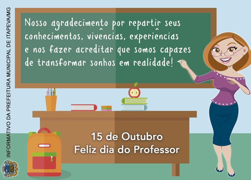 Mensagem Dia Do Professor Prefeitura Municipal De Itapeva Mg