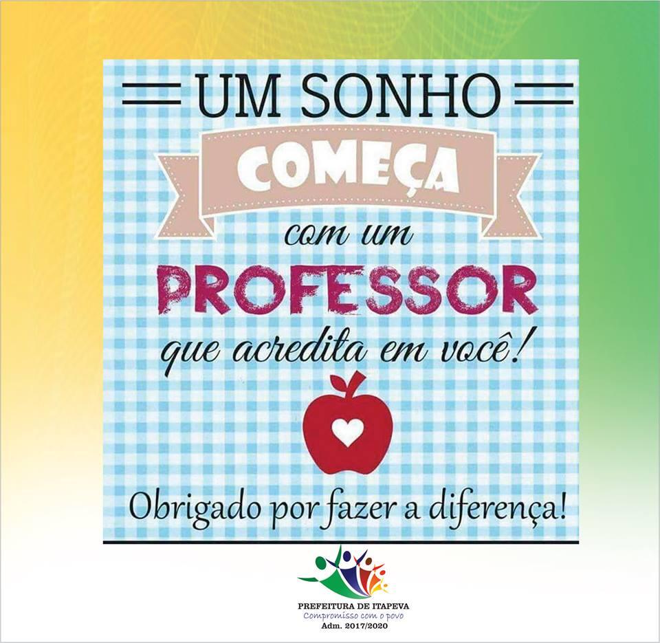 DIA DOS PROFESSORES - 2017
