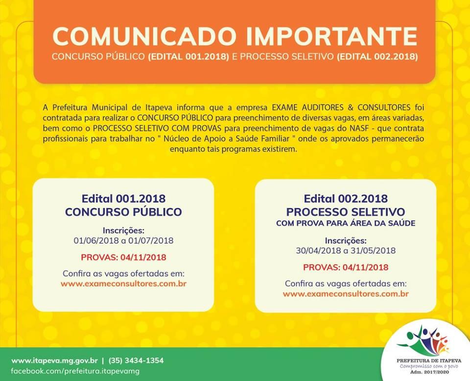 COMUNICADO - CONCURSO