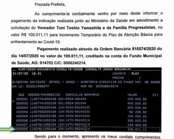 DEPUTADO DIMAS FABIANO ENVIA R$ 100.000,00 PARA COMBATE AO COVID-19